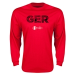 Germany Euro 2016 Elements LS T-Shirt (Red)