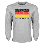 Germany Euro 2016 Element Flag Long Sleeve T-Shirt (Grey)