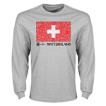 Switzerland Euro 2016 Element Flag Long Sleeve T-Shirt (Grey)