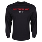 Switzerland Euro 2016 Core Long Sleeve T-Shirt (Black)