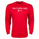 Switzerland Euro 2016 Core Long Sleeve T-Shirt (Red)