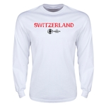 Switzerland Euro 2016 Core Long Sleeve T-Shirt (White)