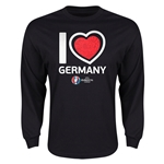 Germany Euro 2016 Heart Long Sleeve T-Shirt (Black)