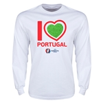 Portugal Euro 2016 Heart LS T-Shirt (White)