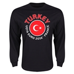 Turkey Euro 2016 Flag Long Sleeve T-Shirt (Black)