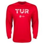Turkey Euro 2016 Flag Long Sleeve T-Shirt (Red)