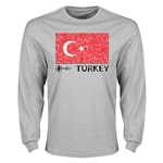 Turkey Euro 2016 Element Long Sleeve T-Shirt (Grey)