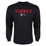 Turkey Euro 2016 Core Long Sleeve T-Shirt (Black)