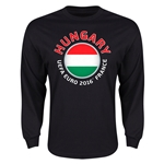 Hungary Euro 2016 Core Long Sleeve T-Shirt (Black)
