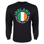 Ireland Euro 2016 Core Long Sleeve T-Shirt (Black)