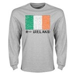 Ireland Euro 2016 Element Flag Long Sleeve T-Shirt (Grey)