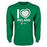 Ireland Euro 2016 Heart Long Sleeve T-Shirt (Green)