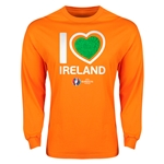 Ireland Euro 2016 Heart Long Sleeve T-Shirt (Orange)