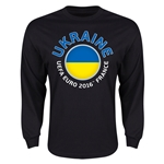 Ukraine Euro 2016 Flag LS T-Shirt (Black)