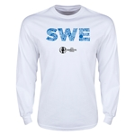 Sweden Euro 2016 Elements LS T-Shirt (White)