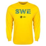 Sweden Euro 2016 Element Long Sleeve T-Shirt (Yellow)