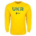 Ukraine Euro 2016 Elements LS T-Shirt (Yellow)