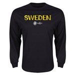 Sweden Euro 2016 Core Long Sleeve T-Shirt (Black)