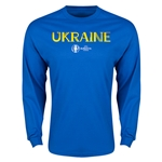Ukraine Euro 2016 Core LS T-Shirt (Royal)