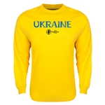 Ukraine Euro 2016 Core LS T-Shirt (Yellow)