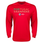 Portugal UEFA Euro 2016 Champions LS T-Shirt (Red)