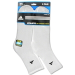 adidas 6-pack Mid Crew Sock (White)