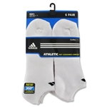 adidas 6-pack No Show Sock (White)