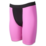 Two-Tone Compression Shorts-7 Inseam (Neon Pink)