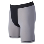 Two-Tone Compression Shorts-7 Inseam (Sv/Bk)