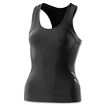 Skins A400 Women's Top Racer Back (Blk/Grey)