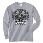 Freebird Lacrosse Long Sleeve T-Shirt (Dk Grey)