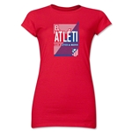 Atletico Madrid El Atleti Junior Women's T-Shirt (Red)