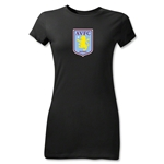 Aston Villa Junior Women's T-Shirt (Black)