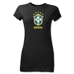 Brazil Junior Women's T-Shirt (Black)
