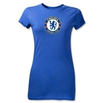 Chelsea Crest Junior Women's T-Shirt (Royal)