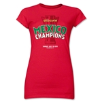 Mexico Gold Cup Celebration Junior Women's T-Shirt (Red)