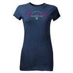 FC Barcelona Mes Que Un Club Junior Women's T-Shirt (Navy)