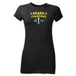 Brazil FIFA Confederations Cup 2013 Champions Junior Women's T-Shirt (Black)