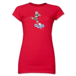 1990 FIFA World Cup Ciao Mascot Junior Women's T-Shirt (Red)
