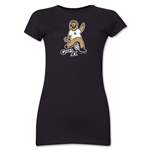 2006 FIFA World Cup Goleo VI Mascot Junior Women's T-Shirt (Black)