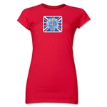 1966 FIFA World Cup Emblem Poster Junior Women's T-Shirt (Red)