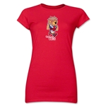 1966 FIFA World Cup Willie Mascot Junior Women's T-Shirt (Red)