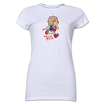 1966 FIFA World Cup Willie Mascot Junior Women's T-Shirt (White)