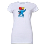 1998 FIFA World Cup Footix Mascot Junior Women's T-Shirt (White)