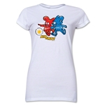 2002 FIFA World Cup Kaz & Nik Mascot Junior Women's T-Shirt (White)