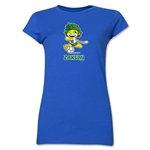 2010 FIFA World Cup Zakumi Mascot Junior Women's T-Shirt (Royal)