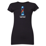 FIFA U-17 World Cup Chile 2015 Core Junior Women's T-Shirt (Black)