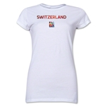 Switzerland FIFA Women's World Cup Canada 2015(TM) Junior Women's T-Shirt (White)