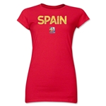Spain FIFA Women's World Cup Canada 2015(TM) Junior Women's T-Shirt (Red)