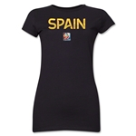 Spain FIFA Women's World Cup Canada 2015(TM) Junior Women's T-Shirt (Black)